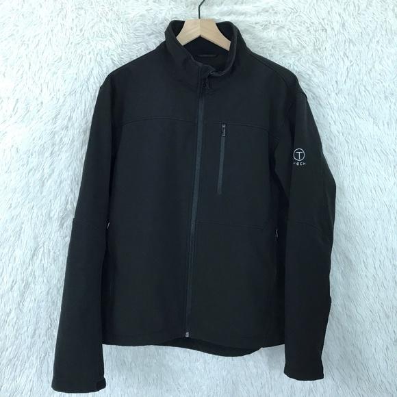 Tumi Other - Soft Shell Jacket Black Full Zip Tech By Tumi L